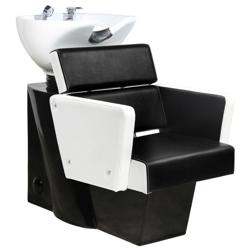 Kadeřnický mycí box GABBIANO DUBLIN bílo-černý