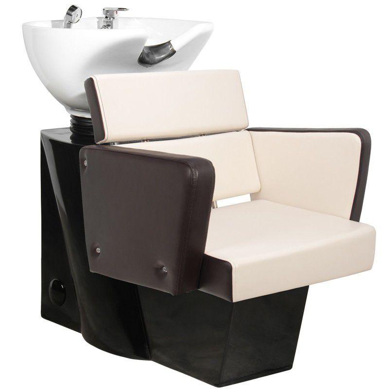 Kadeřnický mycí box GABBIANO DUBLIN hnědo-béžový