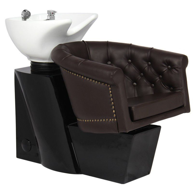 Kadeřnický mycí box GABBIANO LONDON hnědý