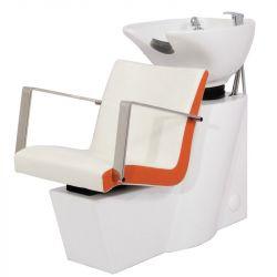 Kadeřnický mycí box GABBIANO ROMA bílo-oranžový (AS)
