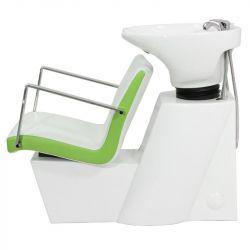 Kadeřnický mycí box GABBIANO ROMA bílo-zelený