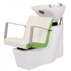 Kadeřnický mycí box GABBIANO ROMA bílo-zelený (AS)