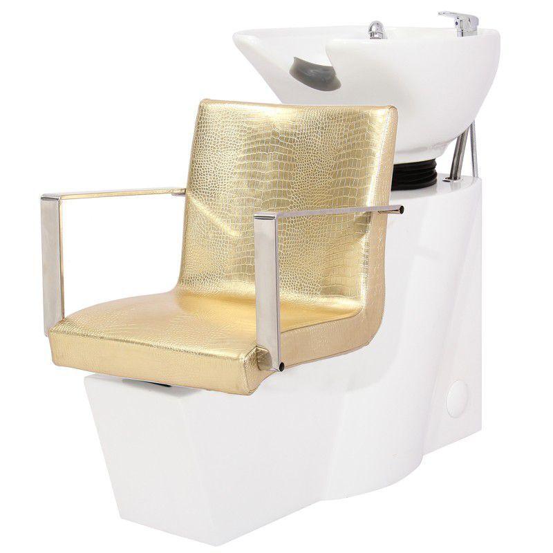 Kadeřnický mycí box GABBIANO ROMA zlatý