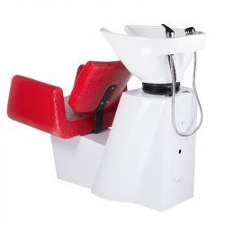 Kadeřnický mycí box VITO BH-8022 červená LUX