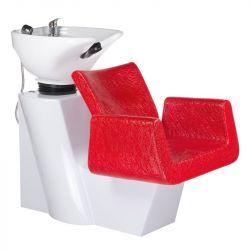 Kadeřnický mycí box VITO BH-8022 červená LUX (BS)
