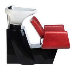 Kadeřnický mycí box VITO BH-8022 červený (BS)